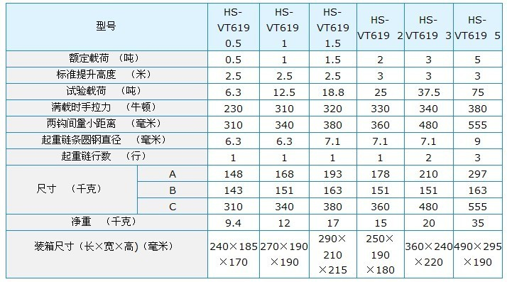 HS-VT619 Chain Block 02